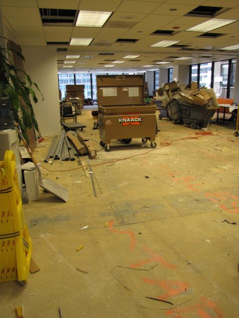 The CLE training room has been a staging ground during Phase 1, but will get its own makeover in Phase 2.