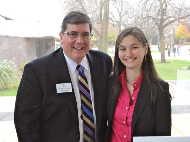 ISBA 3rd Vice President Richard D. Felice and new admittee Cari Miller