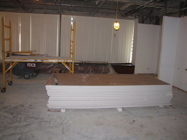 Drywall is ready to go up.