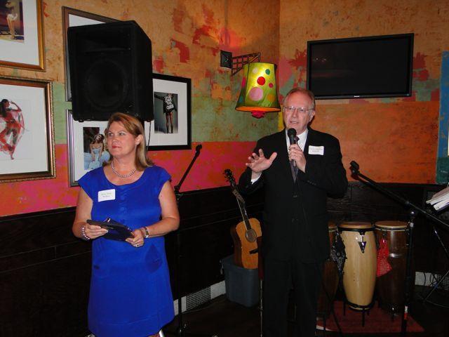 IBF Vice President Debra Walker and Chief Justice Kilbride