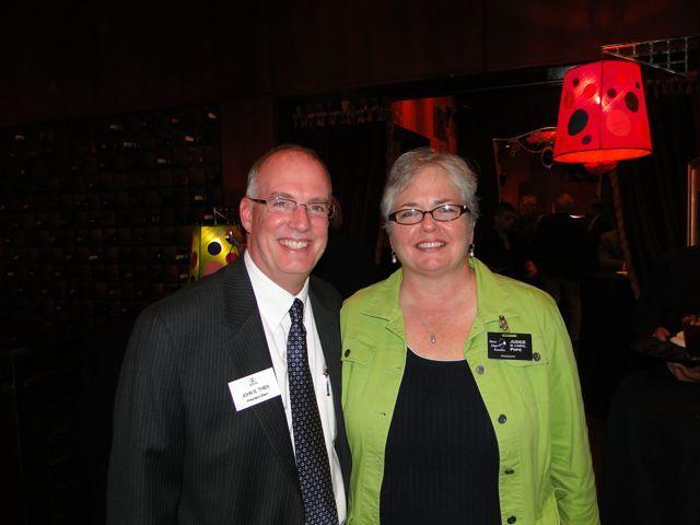 ISBA President-elect John Thies and IJA President Carol Pope