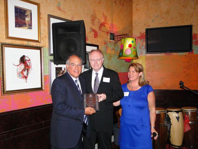 ISBA Immediate Past President Mark Hassakis, Chief Justice Kilbride and IBF Vice President Debra Walker