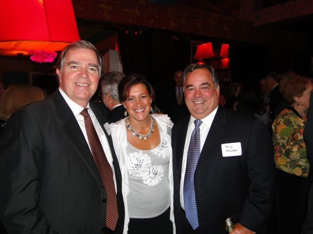ISBA Past President Todd Smith, IBF Executive Director Lisa Corrao and IBF Board member Perry Browder