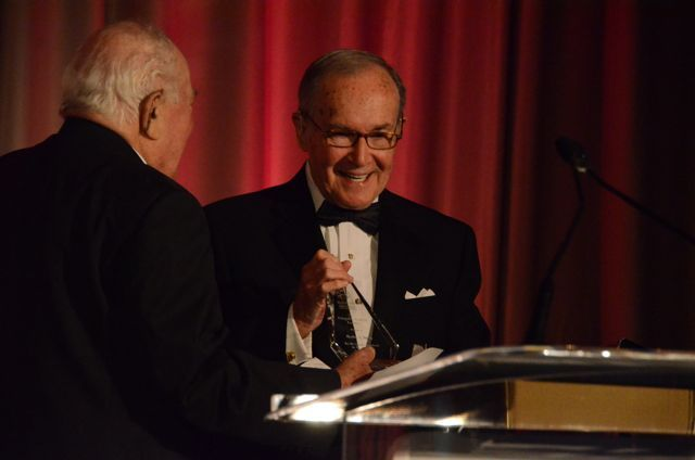 Newton Minow received the 2011 IBF Distinguished Award of Excellence from Abner Mikva