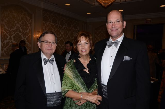 ISBA Board member Russell Scott, a Gala guest and IBF Treasurer Jim Lestikow