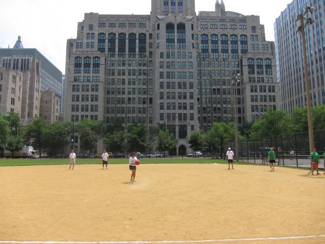 The game was played at Lake Shore Park in downtown Chicago.