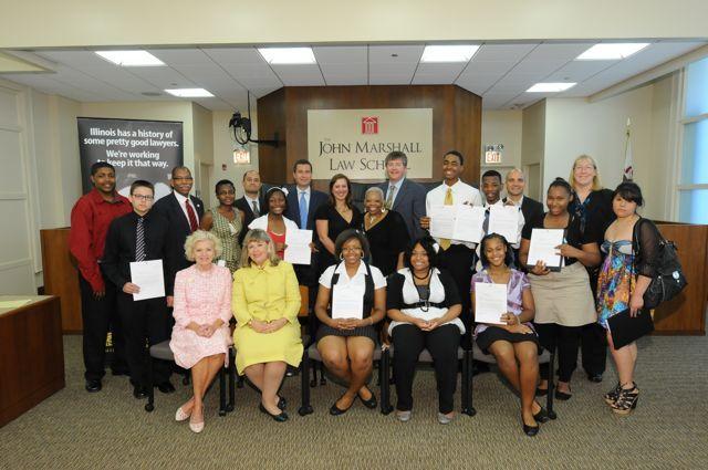 Award winners with ISBA Law and Leadership program leaders