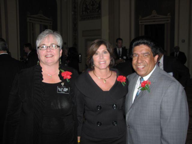 IJA President and Appellate Court Justice M. Carol Pope, Award recipient and Appellate Court Justice Mary Seminara Schostok and Judge Jesse Reyes