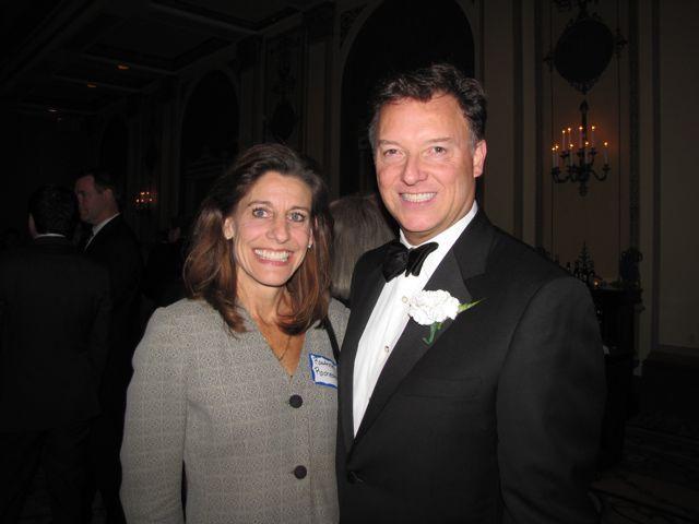 WBAI Board member RoxAnne Rochester with President Locallo