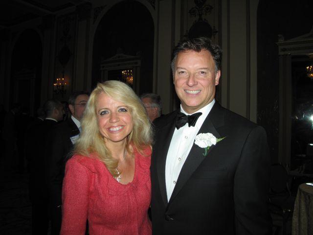 Michele Jochner and President Locallo