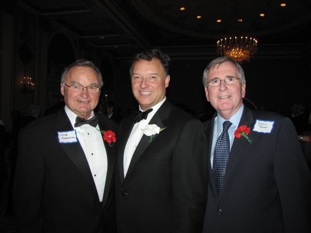 Illinois Supreme Court Justice Lloyd Karmeier, ISBA President Locallo and Dennis Burke