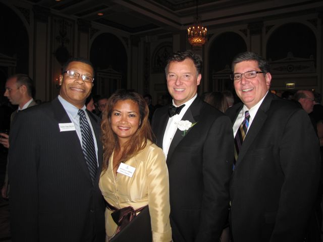 Appellate Court Justice Nathaniel R. Howse, Jr., ISBA Board member Jessica Arong O'Brien, President Locallo and ISBA 3rd Vice President Rick D. Felice