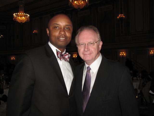 ISBA Board member Vincent Cornelius and Illinois Supreme Court Chief Justice Thomas Kilbride