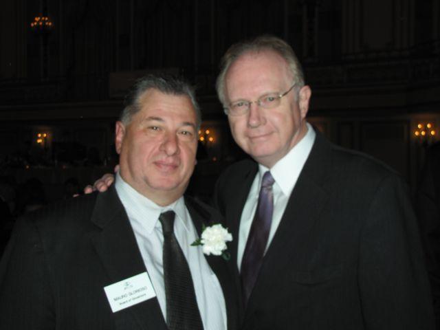 ISBA Board member Mauro Glorioso and Illinois Supreme Court Chief Justice Thomas Kilbride