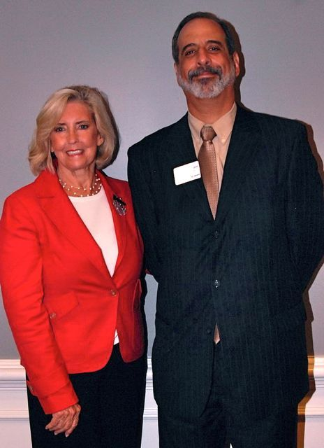 Lilly Ledbetter and Michael Strom, 1st Vice President of the Decalogue Society