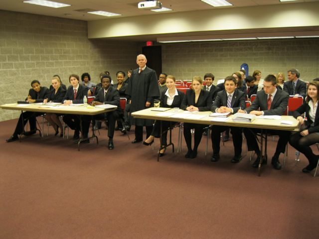 Judge Tom McCluer with schools