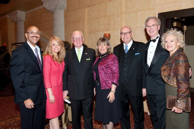 Pierre Priestley, Michele Jochner, Chicago Alderman Edward M. Burke, ISBA 3rd Vice President Paula H. Holderman, Chief Judge Holderman, John Norris, and Illinois Supreme Court Justice Anne M. Burke