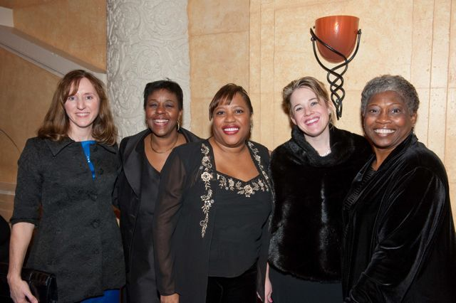 Michelle Owens, Deborah Cole, Hon. Patrice Ball-Reed of the Circuit Court of Cook County, Chicago Alumni Chapter Clerk Barbara Andersen, and Chicago Alumni Chapter Board member Mary Melchor