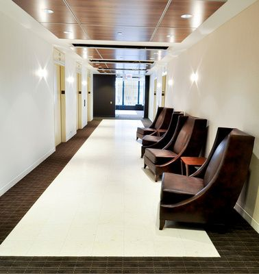 New elevator lobby