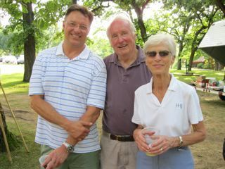 ISBA President John G. Locallo with Keith and Nancy Hyzer, both past presidents of WCBA.