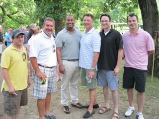 Jeff Orduno, WCBA 2nd Vice President Jeff Makeever, Ed Saulters, ISBA President Locallo, Mike Schirger and Jeff Hoskins