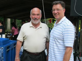 WCBA President Thomas E. Laughlin with President Locallo