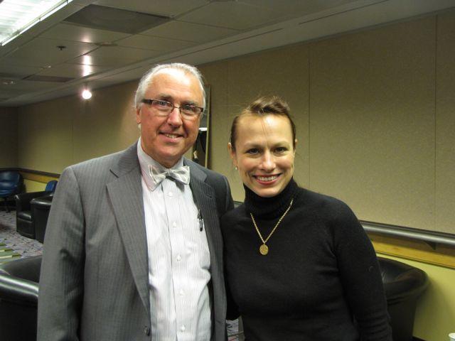 ISBA 3rd Vice President Umberto S. Davi with Regina Rathnau, president of the Advocates Society