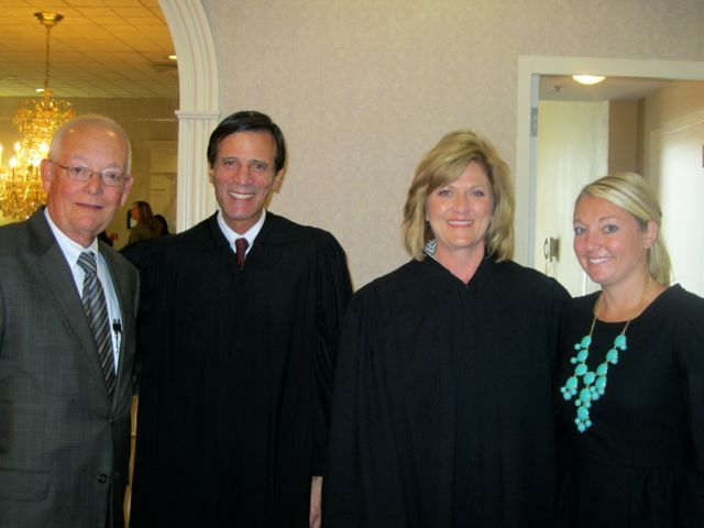 David Lynch, Justice Tom M. Lytton, Justice Mary K. O'Brien and new admittee Alison Lynch.