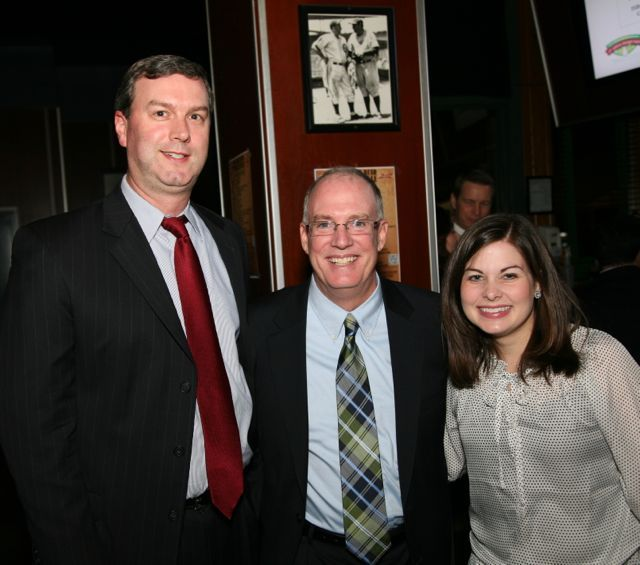 Past YLD Chair Ryan Henderson, ISBA President John E. Thies and current YLD Chair Meghan O'Brien