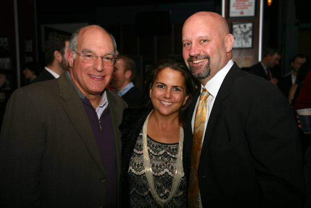ISBA Past President Mark Hassakis with past YLD Chair Shawn Kasserman and his wife