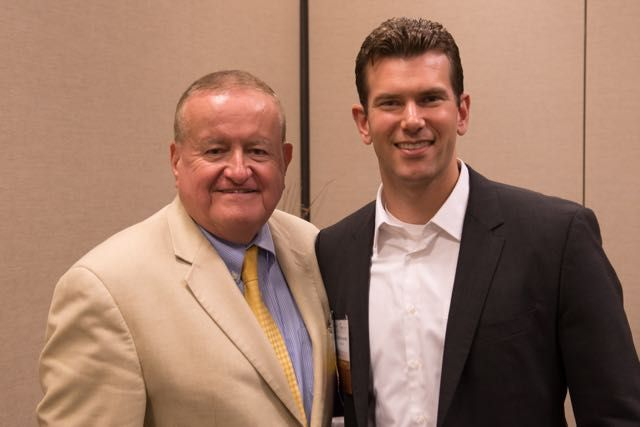 ISBA President-elect Hon. Russell W. Hartigan (right) and new YLD Chair George L. Schoenbeck, III