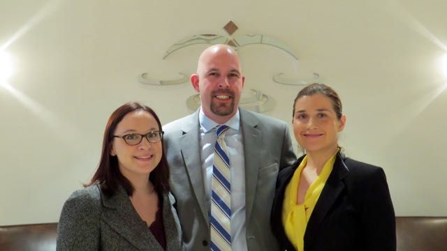 Attendees of the program included (from left) Environmental Law Section Vice Chair Emily Masalski, Eric Hanis and ISBA Board member Anna P. Krolikowska.