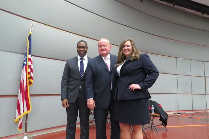 Azar Alexander, Hon. Russell Hartigan, and Adriana Preston