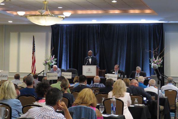 Past president Vince Cornelius addresses the Assembly