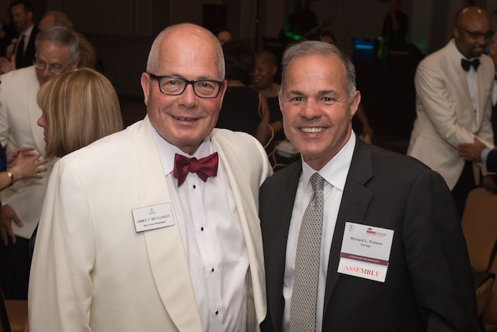 Second vice president Jim McCluskey and Richard L. Pullano