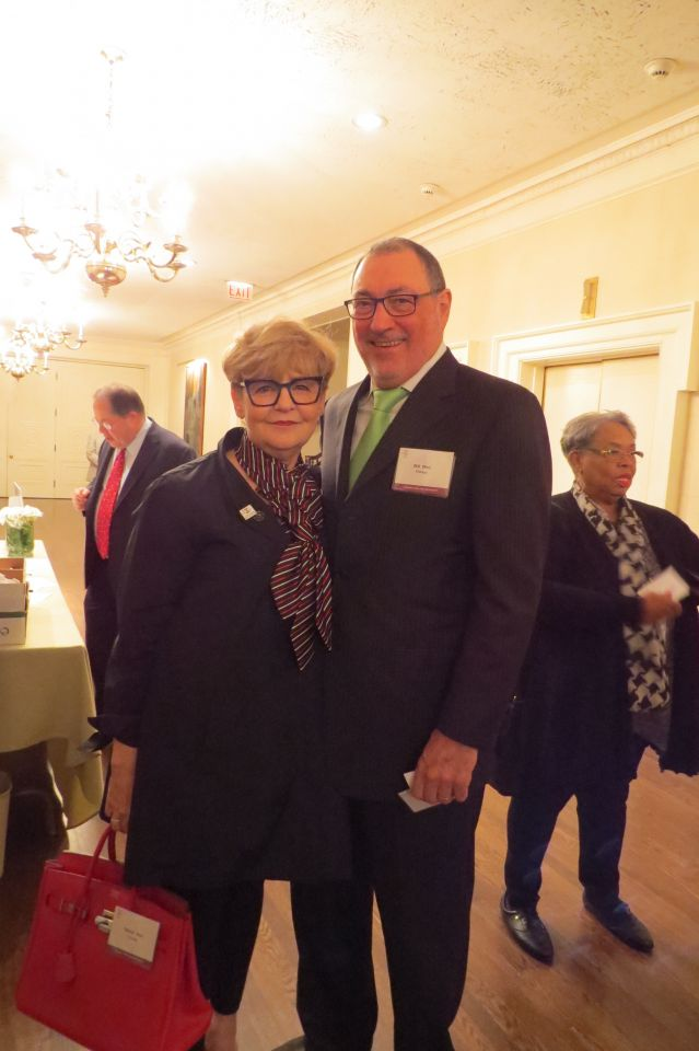 Cheryl Niro and Bill Niro at the welcome reception