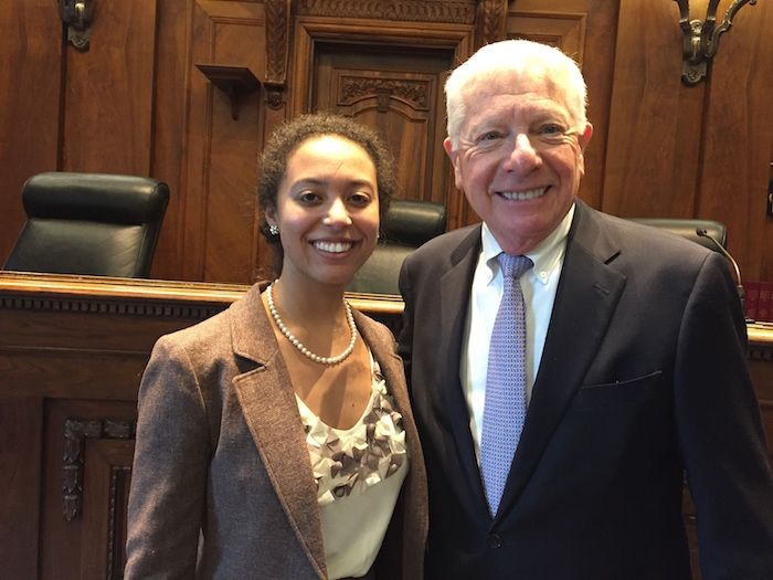 Allison Fritz Richard with Third Vice President David Sosin