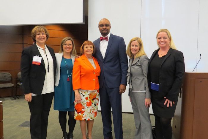 """ISBA President Vincent Cornelius attended the showing of """"Balancing the Scales"""""""