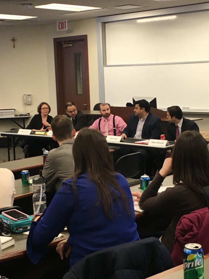 Panelists speak to an audience of law students atISBA Day at Loyola University Chicago School of Law.