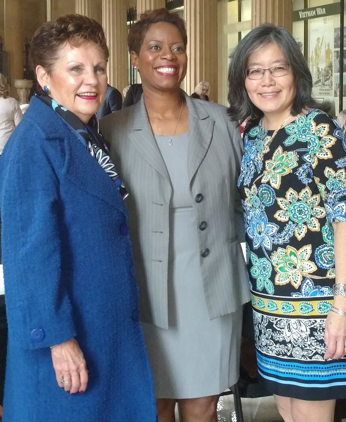 Illinois Supreme Court Justice Rita B. Garman, new attorney Erika Weaver, Judge Holly Clemons