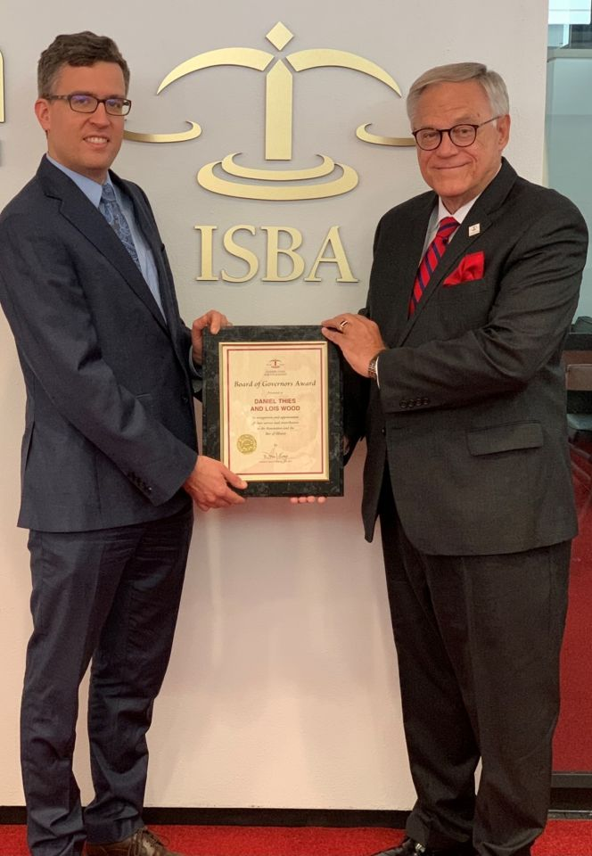 Daniel Thies and ISBA President Dennis Orsey