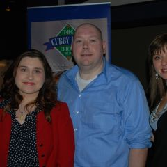 YLD Holiday Party co-chairs Anna Krolikowska and Nathan Lollis with YLD Chair Kelley Gandurski