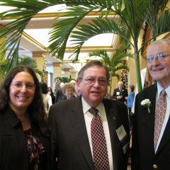 IBF Executive Director Susan Lewers, Board of Governors member Russell Scott and Senior Counsellors honoree Harry Rohde