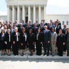 38 ISBA members admitted to the U.S. Supreme Court during the ISBA Group Admission Ceremony on June 1.