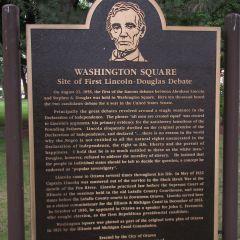 Plaque commemorating the 1st Lincoln-Douglas debate