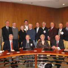 ISBA past presidents at a breakfast before the Assembly