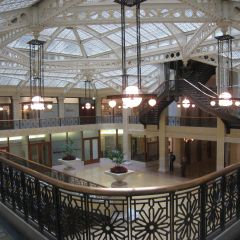 The light court on the 1st floor of the Rookery