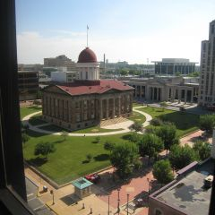 View of Old State Capitol from main conference room