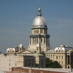 View of the State Capitol from a 6th floor office