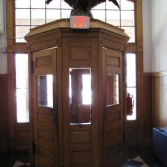 The courthouse entrance - no metal detector.